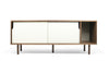 Sideboards - TemaHome 9500.400544 Dann Sideboard Walnut Frame, Pure White Doors, Walnut Feet | 5603449400544 | Only $786.00. Buy today at http://www.contemporaryfurniturewarehouse.com