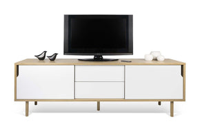 Dann Sideboard 201 W/ Wood Legs Oak / Pure White
