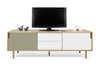 Dann Sideboard 201 W/ Wood Legs Oak / Pure White & Matte Grey