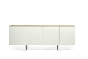 Edge Sideboard Pure White / Oak