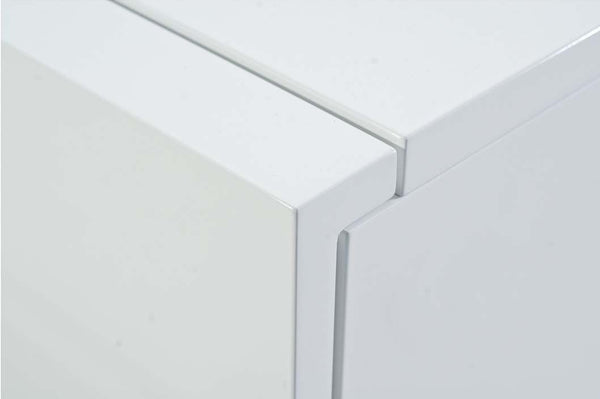 Glare Sideboard + Legs High Gloss White Laquered