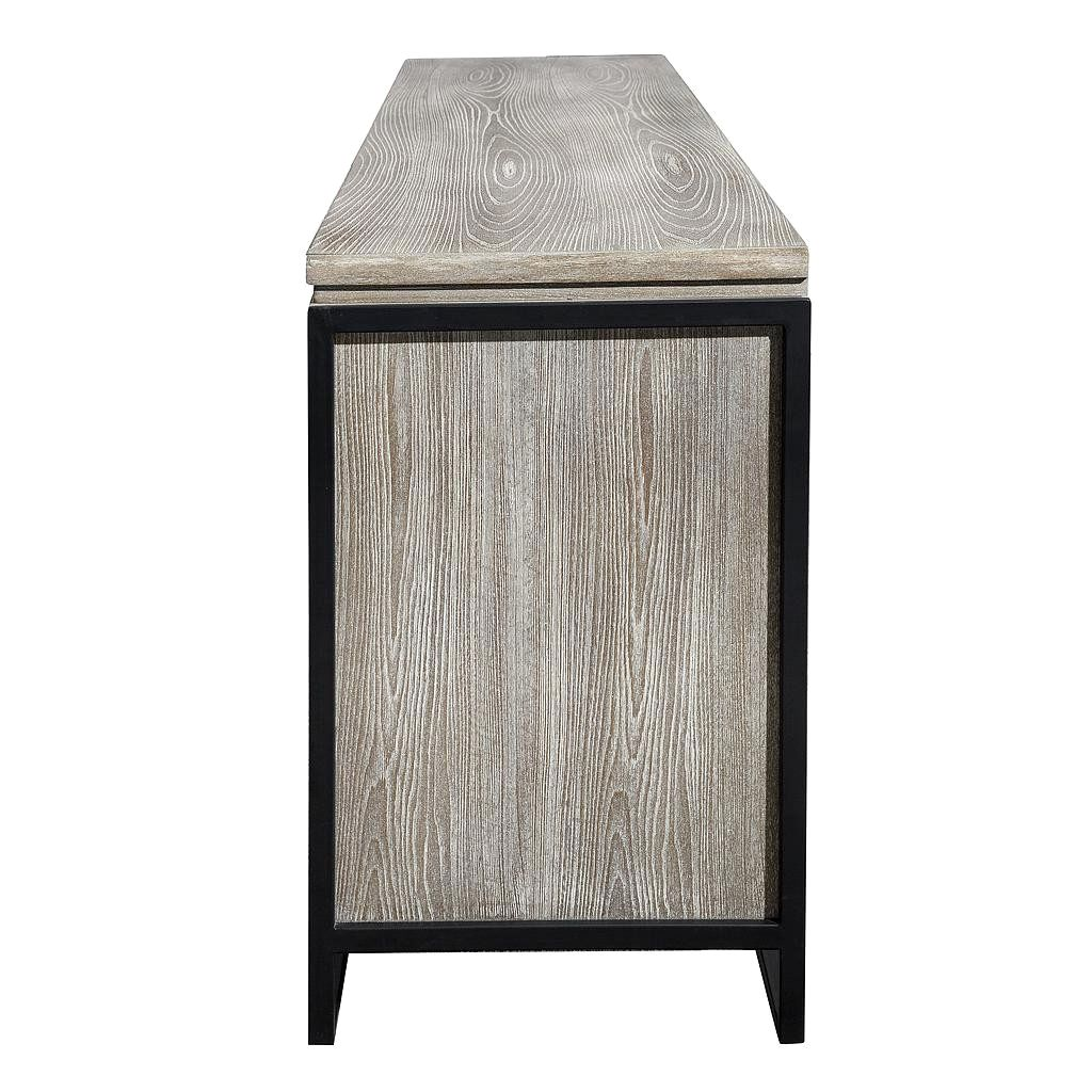 Sideboard Industrial tov furniture westwood industrial style elm buffet washed grey tov