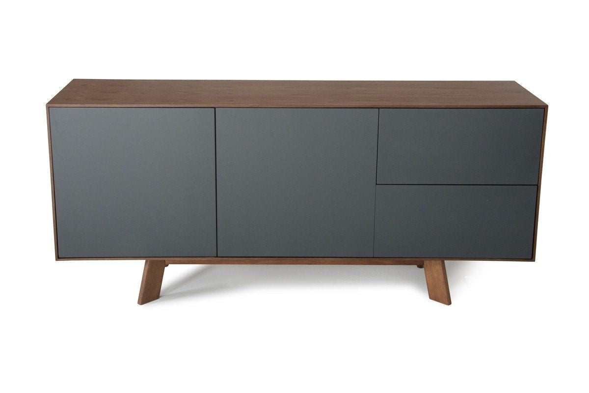 Vig Furniture Modrest Weylyn Modern Charcoal Grey Amp Walnut