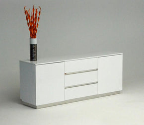 A&x Skyline White Crocodile Lacquer Buffet Sideboard