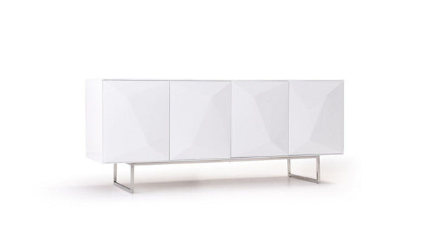 ... Modrest Vanguard   Modern White Buffet Sideboard ...