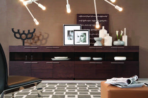 Modrest Daytona - Modern Brown Oak Buffet Sideboard