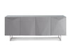 Paul Buffet with tempered glass top - Gray