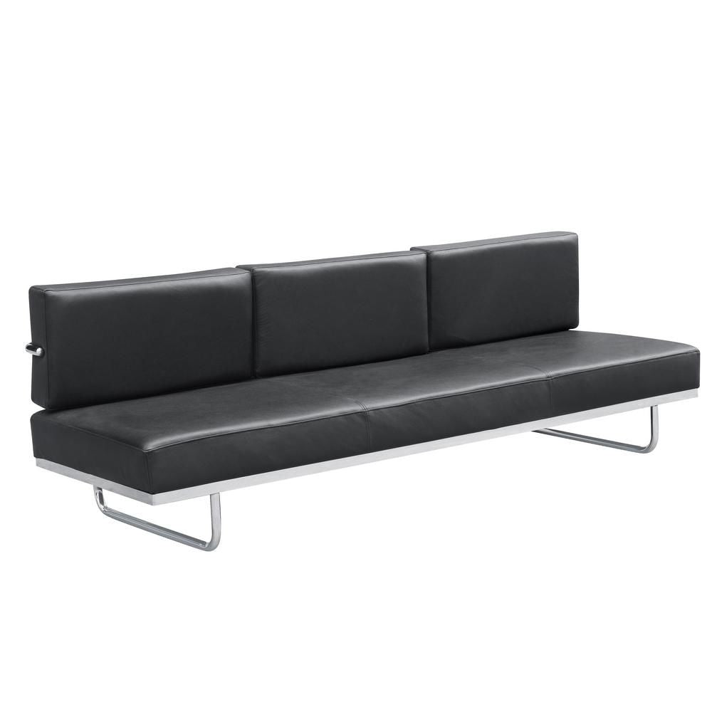 Fine Mod Imports Flat Lc5 Sofa Bed, Black at Contemporary Furniture ...