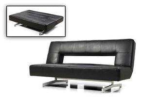 Divani Casa Wilshire   Modern Fold Out Eco Leather Sofa Bed