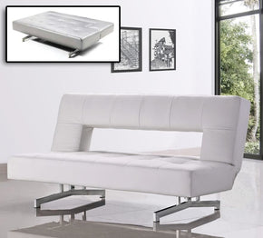Divani Casa Wilshire   Modern Fold Out Leatherette Sofa Bed