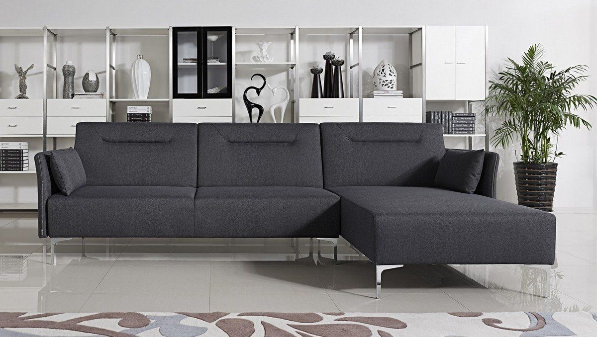 Vig Furniture VGMB1365B-GRY Divani Casa Rixton Modern Grey Fabric Sofa Bed  Sectional sale at Contemporary Furniture Warehouse. Today only.