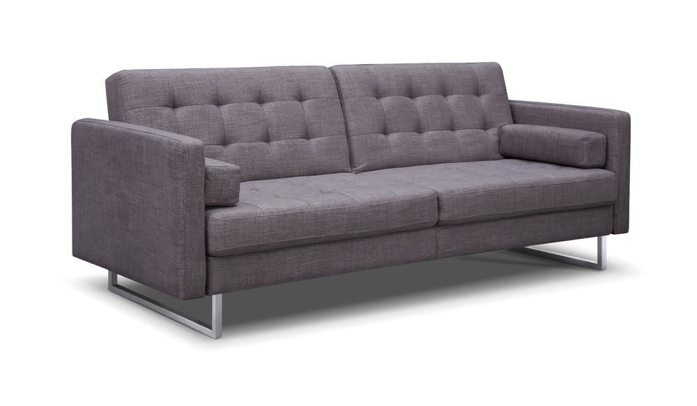 Peachy Giovanni Sofa Bed Gray Fabric Home Remodeling Inspirations Gresiscottssportslandcom