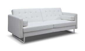 Giovanni Sofa Bed White Eco Leather
