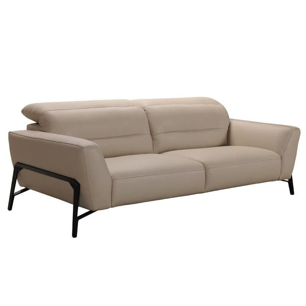 Divani Casa Evora Modern Taupe Leather Sofa U0026 Chair Set