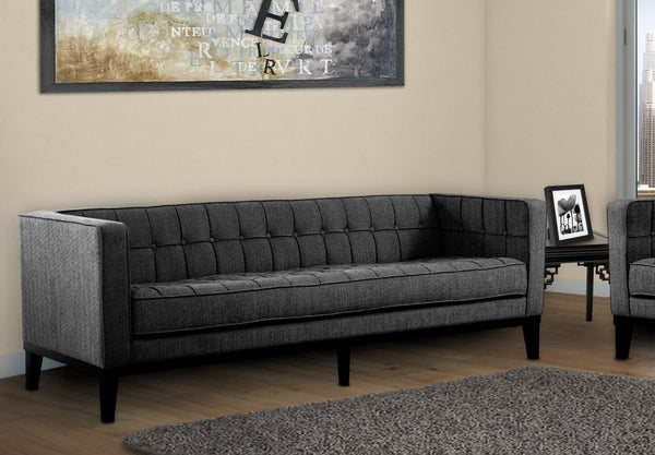 Roxbury Sofa In Charcoal Fabric