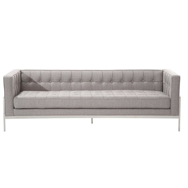 Sofas - Armen Living LCAN3GR Andre Contemporary Sofa In Gray Tweed and Stainless Steel | 638170587252 | Only $1549.00. Buy today at http://www.contemporaryfurniturewarehouse.com