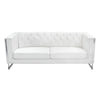 Sofas - Diamond Sofa CHELSEASOWH Chelsea Leatherette Sofa with Metal Leg - White | 642125443623 | Only $899.00. Buy today at http://www.contemporaryfurniturewarehouse.com