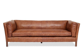 Sofas - Edloe Finch EF-Z1-3S001 Finley Brazilian Top-grain Cognac Leather Sofa | 630591783640 | Only $1998.80. Buy today at http://www.contemporaryfurniturewarehouse.com