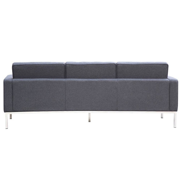Button Sofa In Wool Gray