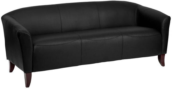 Sofas - Flash Furniture 111-3-BK-GG Imperial Series Leather Sofa | 847254038645 | Only $574.80. Buy today at http://www.contemporaryfurniturewarehouse.com