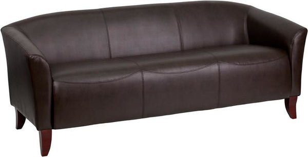 Sofas - Flash Furniture 111-3-BN-GG Imperial Series Leather Sofa | 847254038706 | Only $574.80. Buy today at http://www.contemporaryfurniturewarehouse.com