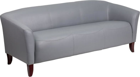 Sofas - Flash Furniture 111-3-GY-GG Imperial Series Leather Sofa | 889142059981 | Only $574.80. Buy today at http://www.contemporaryfurniturewarehouse.com