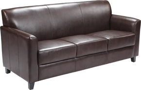 Sofas - Flash Furniture BT-827-3-BN-GG Diplomat Series Brown Leather Sofa | 847254054447 | Only $604.80. Buy today at http://www.contemporaryfurniturewarehouse.com