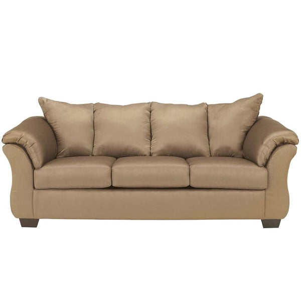 Signature Design By Ashley Darcy Sofa In Cobblestone Fabric Mocha