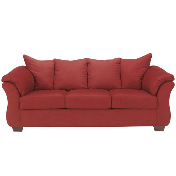 Signature Design By Ashley Darcy Sofa In Cobblestone Fabric Red
