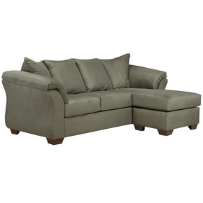Signature Design By Ashley Darcy Sofa Chaise In Sage Microfiber