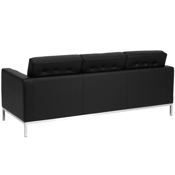 Lacey Series Contemporary Leather Sofa With Stainless Steel Frame