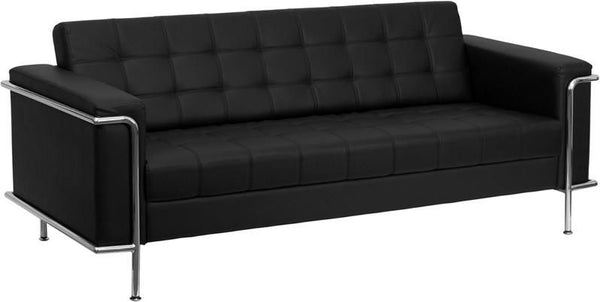 Sofas - Flash Furniture ZB-LESLEY-8090-SOFA-BK-GG Lesley Series Contemporary Sofa with Encasing Frame | 847254010863 | Only $759.80. Buy today at http://www.contemporaryfurniturewarehouse.com