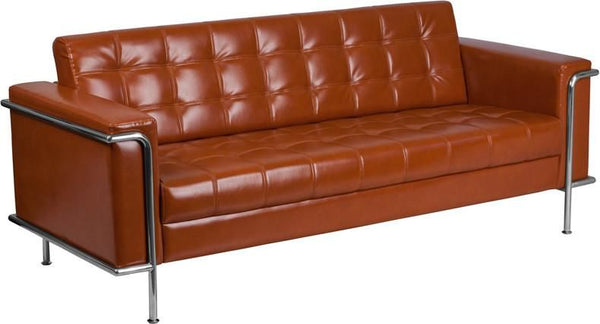 Sofas - Flash Furniture ZB-LESLEY-8090-SOFA-COG-GG Lesley Series Contemporary Sofa with Encasing Frame | 889142075288 | Only $759.80. Buy today at http://www.contemporaryfurniturewarehouse.com