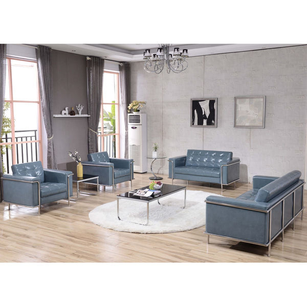 Sofas - Flash Furniture ZB-LESLEY-8090-SOFA-GY-GG Lesley Series Contemporary Sofa with Encasing Frame | 889142075318 | Only $759.80. Buy today at http://www.contemporaryfurniturewarehouse.com
