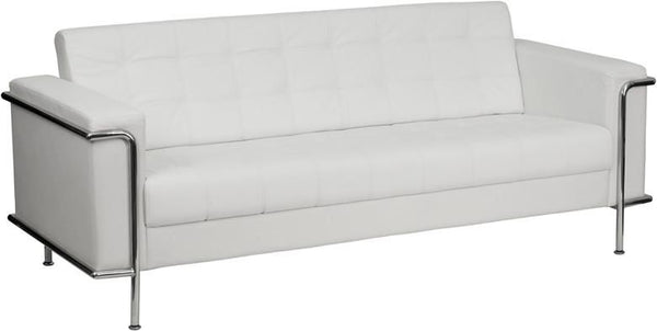 Sofas - Flash Furniture ZB-LESLEY-8090-SOFA-WH-GG Lesley Series Contemporary Sofa with Encasing Frame | 847254019637 | Only $759.80. Buy today at http://www.contemporaryfurniturewarehouse.com