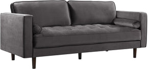 Meridian Emily Grey Velvet Sofa 625Grey-S | 647899946653| $904.80. Sofas - . Buy today at http://www.contemporaryfurniturewarehouse.com