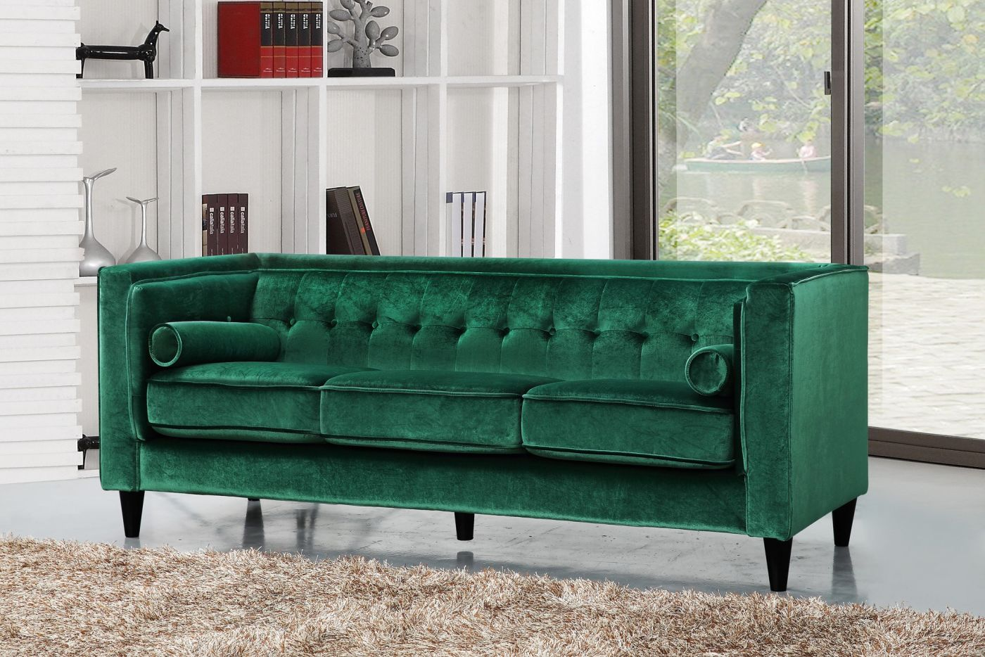 Astounding Buy Meridian 642Green S Taylor Green Velvet Sofa At Contemporary Furniture Warehouse Cjindustries Chair Design For Home Cjindustriesco