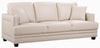 Ferrara Beige Bonded Leather Sofa