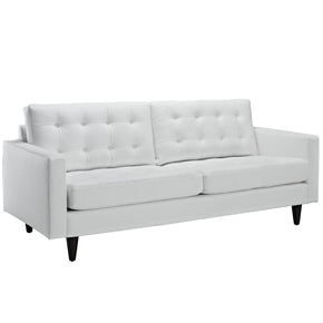Empress Bonded Leather Sofa White