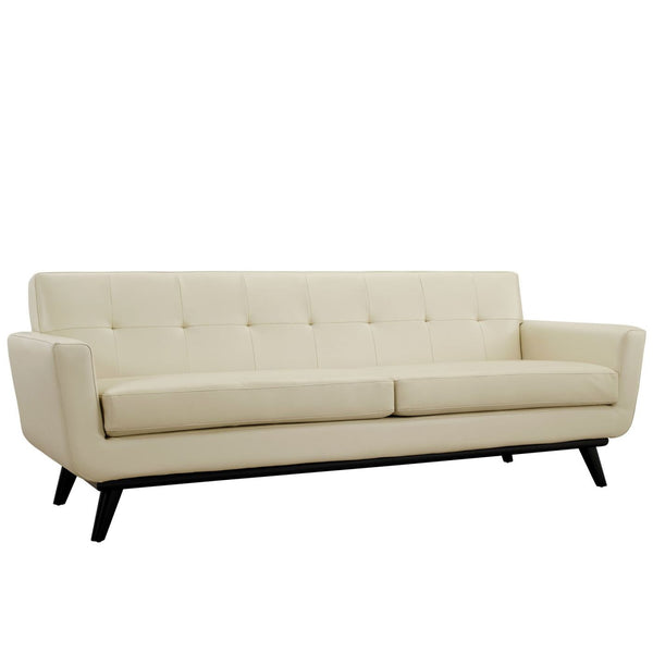Modway Sofas on sale. EEI-1338-TAN Engage Mid Century Modern Bonded Leather  Sofa only Only $1,062.80 at Contemporary Furniture Warehouse