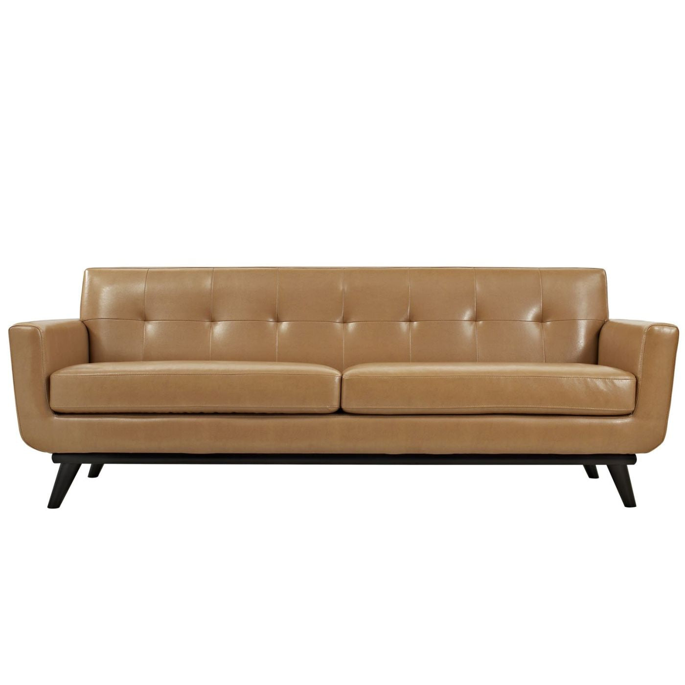 Picture of: Modway Sofas On Sale Eei 1338 Tan Engage Mid Century Modern Bonded Leather Sofa Only Only 1 062 80 At Contemporary Furniture Warehouse