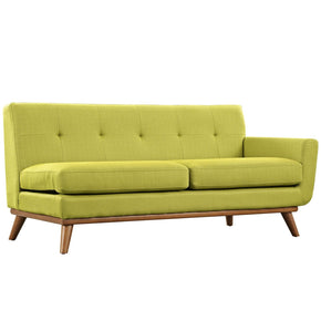 Engage Right-Arm Upholstered Loveseat Wheatgrass Modular Sofa