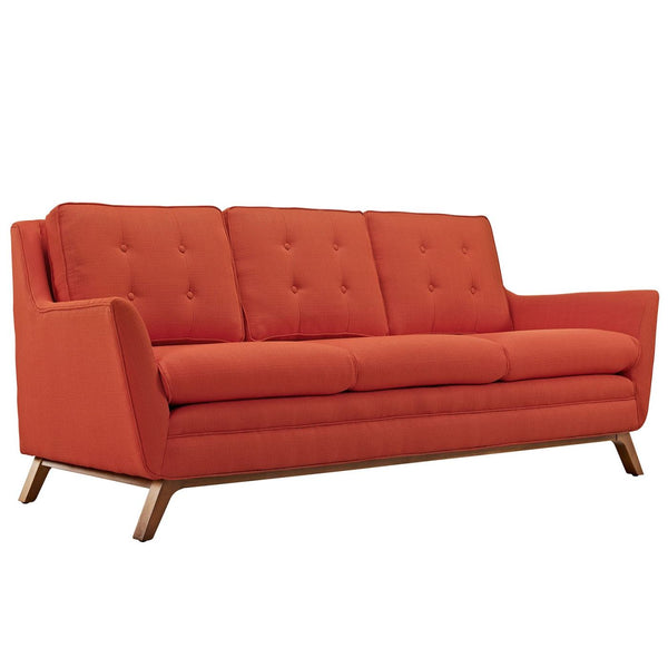 Beguile Upholstered Fabric Sofa Atomic Red