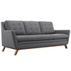 Beguile Upholstered Fabric Sofa Gray