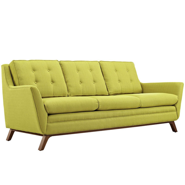 Beguile Upholstered Fabric Sofa Wheatgrass