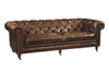 Birmingham Sofa Brown Top Grain Leather Hardwood & Plywood Frame