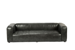 Kirby Sofa Charcoal Top Grain Leather Hardwood & Plywood Frame