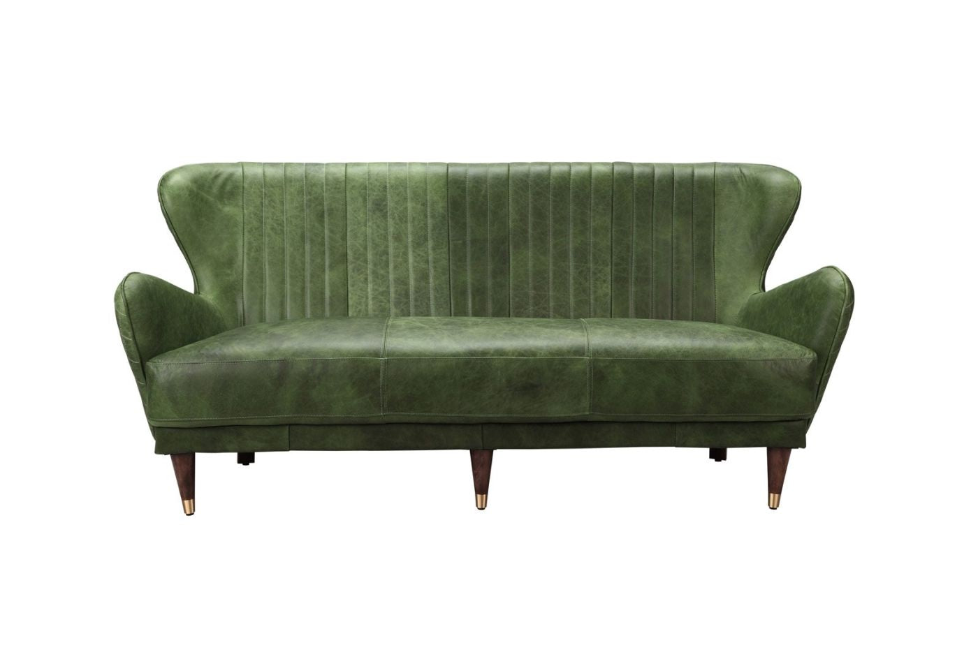 Best price on Moe\'s Home Collection PK-1080-27 Keaton Leather Sofa Emerald.  Only $3,024.00 at Contemporary Furniture Warehouse.