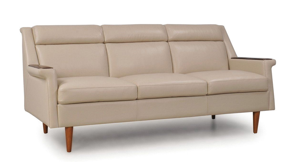Moroni Torger Full Leather Mid-Century Sofa Putty 36403M/S1294. Only  $1,738.00 at Contemporary Furniture Warehouse.