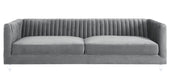 Avator Grey Velvet Sofa
